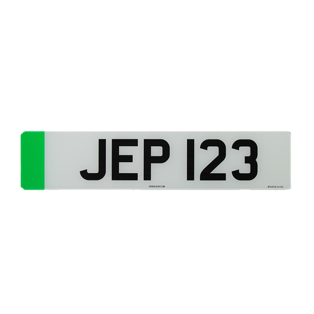 SEE NOTE - Made-Up Car Standard Oblong Front Plate: 520 X 111mm With Green Flash