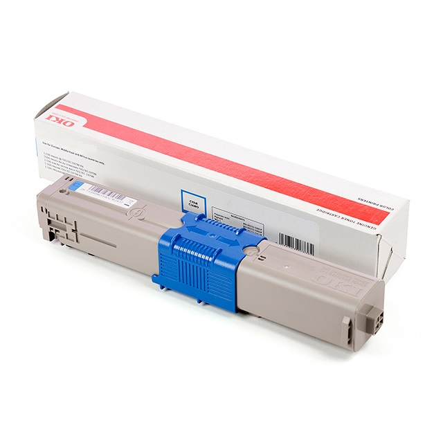 Cyan printer toner for OKI C510 / C511 colour laser printers (5k)