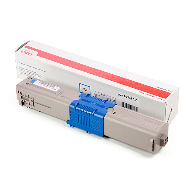 Cyan printer toner for OKI C532 laser printers (1.5k)