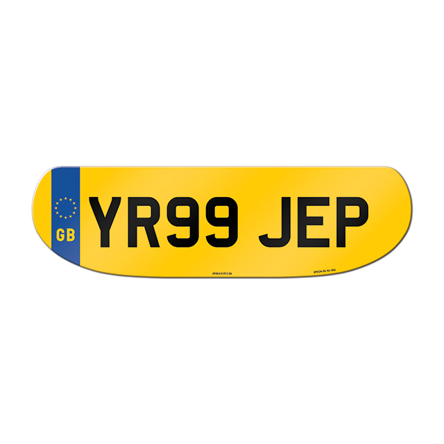 Made-up shaped rear plate: Jaguar S-Type (Pre 2004) with GB flag