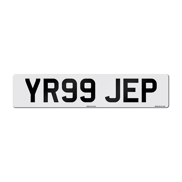 Made-up car standard oblong front plate: 520 x 111mm