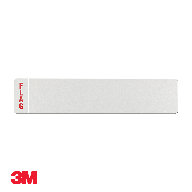 Car standard oblong 3M white reflective: 520 x 111mm with regional flag