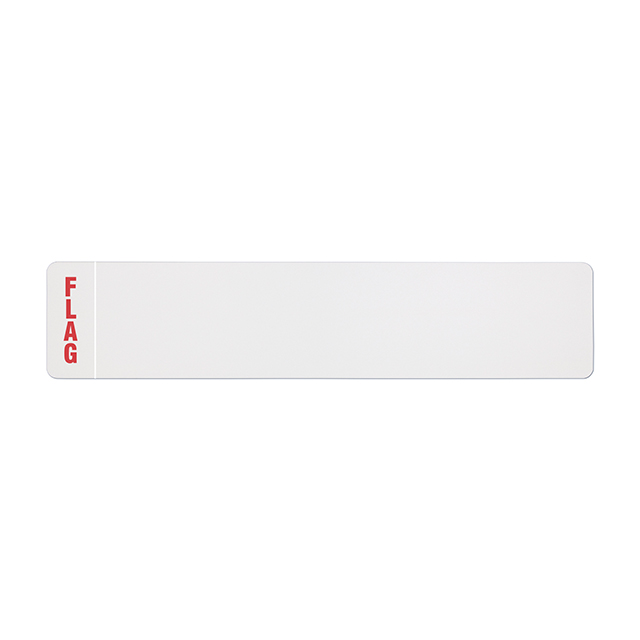 Car standard oblong Nikkalite white reflective: 520 x 111mm with regional flag
