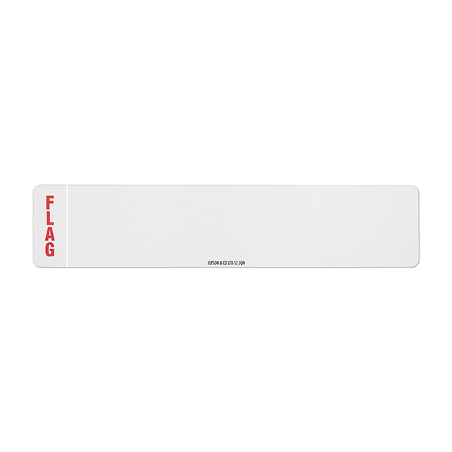 Car standard oblong Nikkalite white reflective: 520 x 111mm (pre-printed) with regional flag