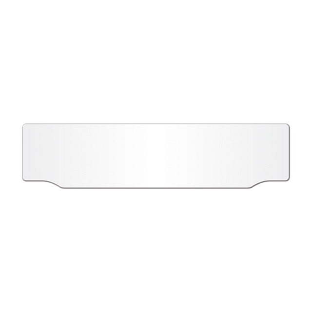 Car acrylic lipped oblong: 520 x 125mm