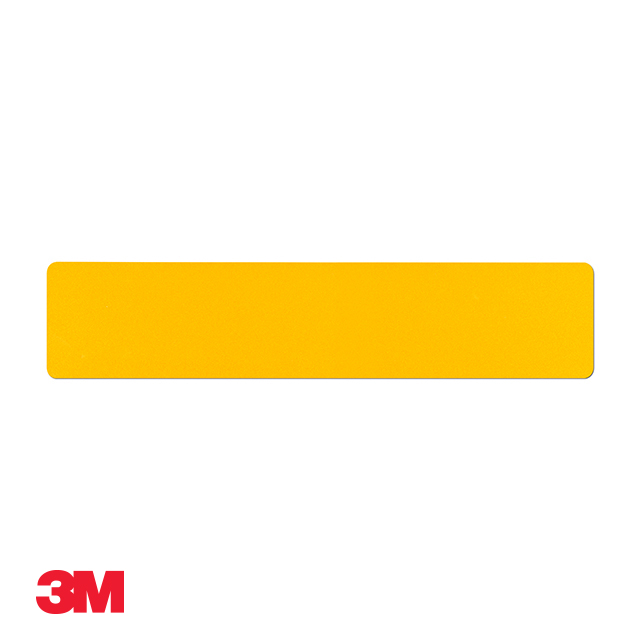Car standard oblong 3M yellow reflective: 520 x 111mm