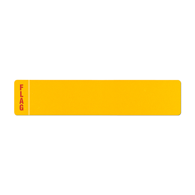 Car standard oblong Nikkalite yellow reflective: 520 x 111mm with regional flag