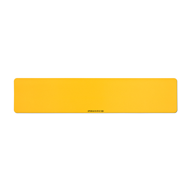 Car standard oblong Nikkalite yellow reflective: 520 x 111mm (pre-printed)