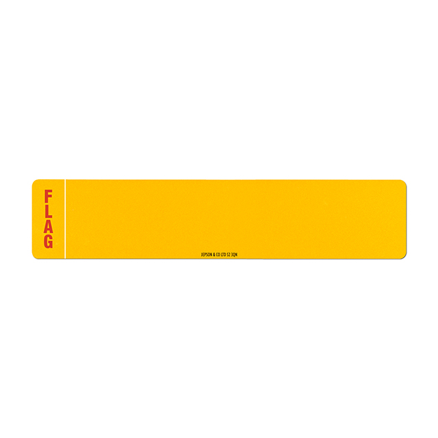 Car standard oblong Nikkalite yellow reflective: 520 x 111mm (pre-printed) with regional flag