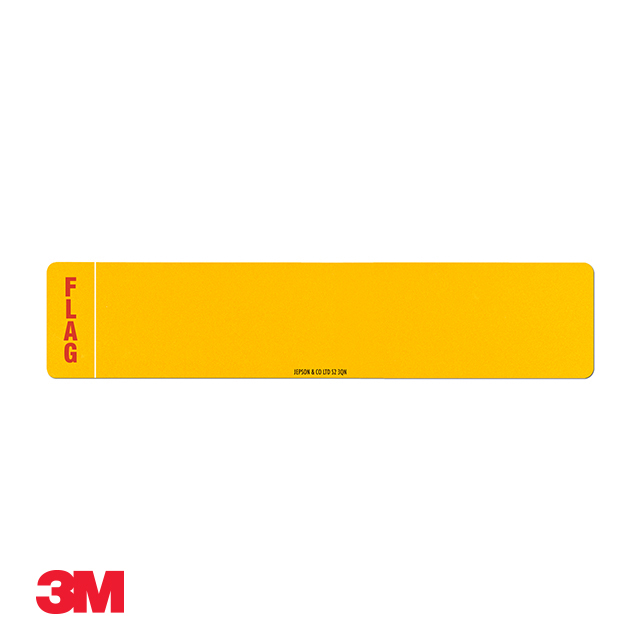 Car standard oblong 3M yellow reflective: 520 x 111mm (pre-printed) with regional flag