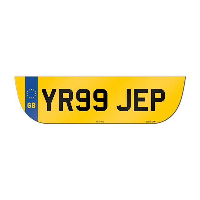 Made-up shaped rear plate: Jaguar X-Type Estate with GB flag