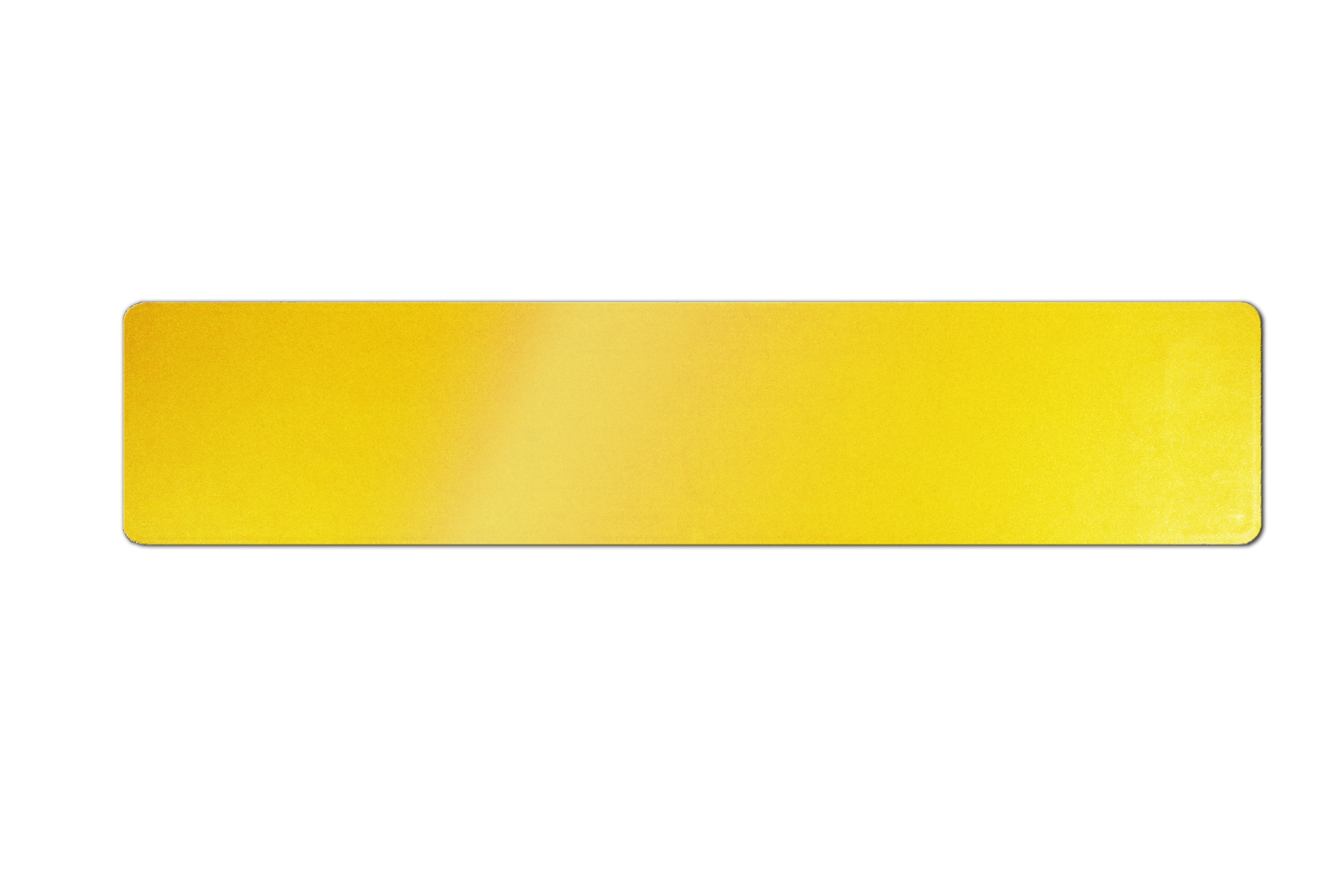 Eco-plate car standard oblong yellow ABS backing: 520 x 111mm