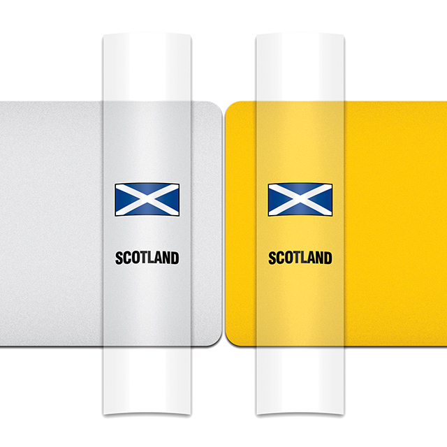 Sticker for car: Saltire option A flag for white or yellow