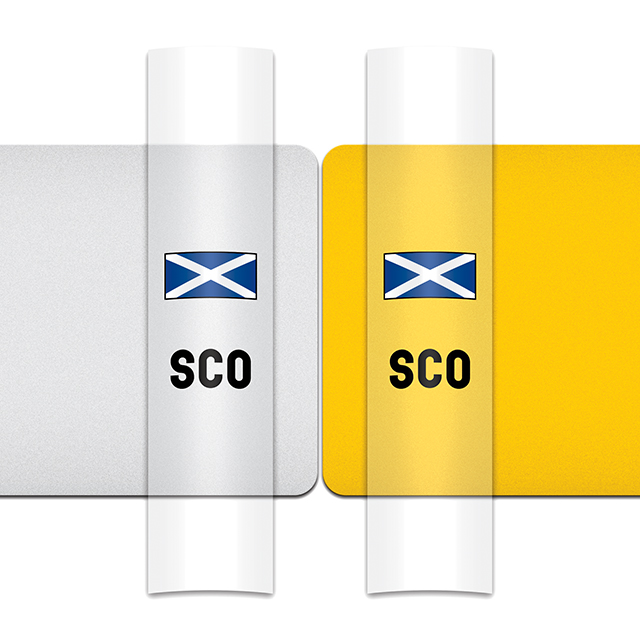 Sticker for car: Saltire option B flag for white or yellow