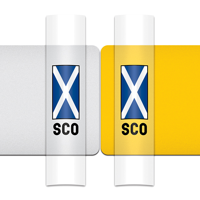 Sticker for car: Saltire option C flag for white or yellow