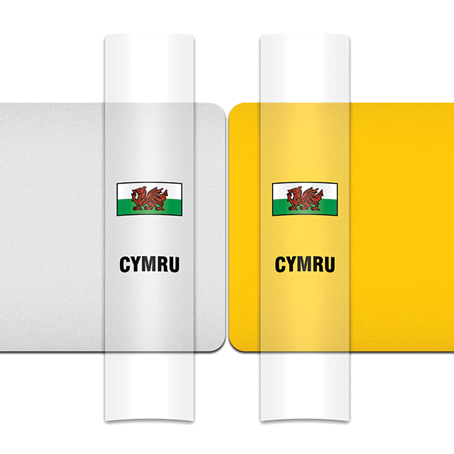 Sticker For Car: Welsh Dragon Option A Flag For White Or Yellow