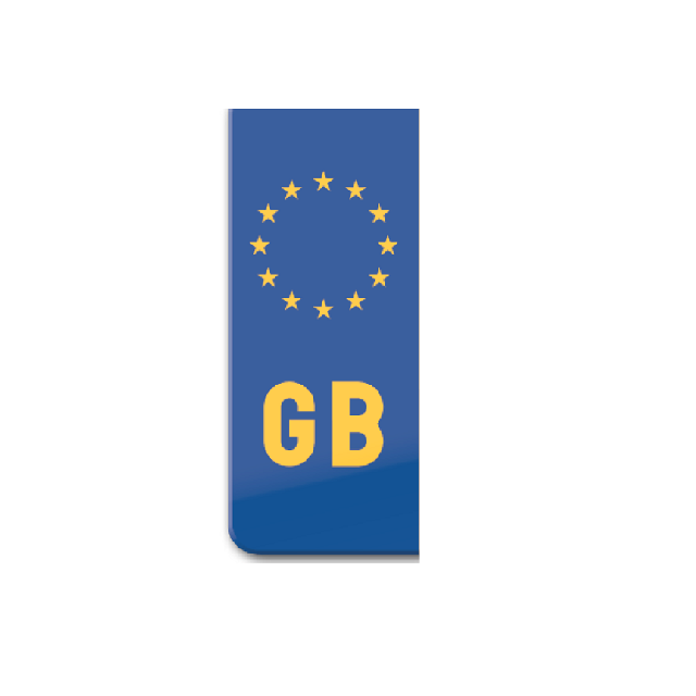 Sticker for motorcycle: GB flag for yellow