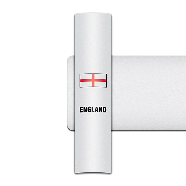Sticker for car: St George's Cross option A flag for white