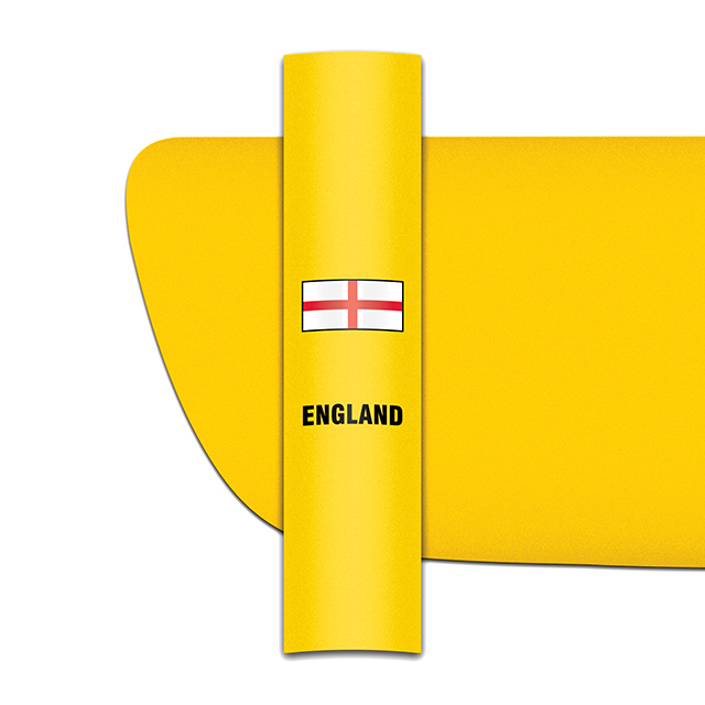 Sticker for car: St George's Cross option A flag for yellow