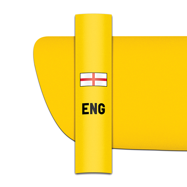 Sticker for car: St George's Cross option B flag for yellow