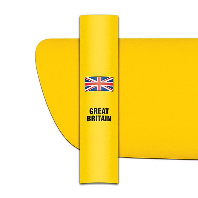 Sticker for car: Union flag option A for yellow