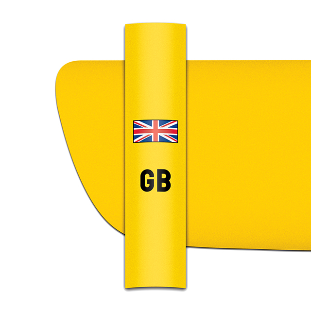 Sticker for car: Union flag option B for yellow