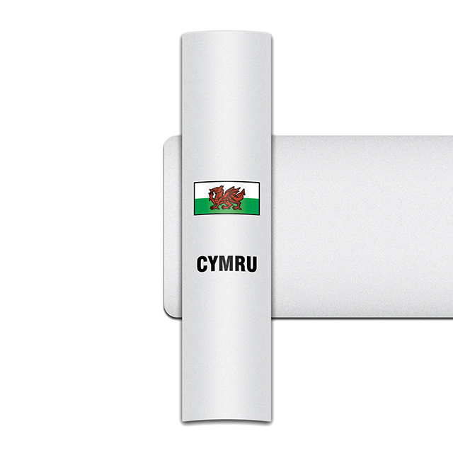 Sticker for car: Welsh Dragon option A flag for white