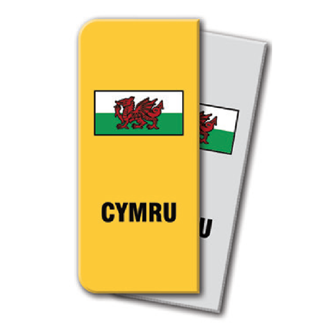 Sticker for car: Welsh Dragon option A flag for yellow